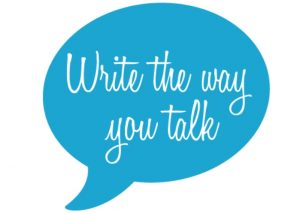Write As You Talk