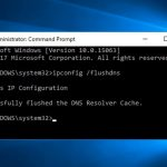 Clear DNS Cache on Windows 10